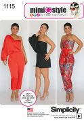 Simplicity Ladies Easy Sewing Pattern 1115 Jumpsuits in 3 Styles