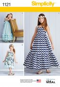 Simplicity Girls Sewing Pattern 1121 Summer Dresses with Pretty Ruffles