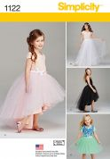 Simplicity Girls Sewing Pattern 1122 Tulle Skirts & Underskirts