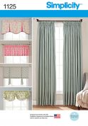 Simplicity Homeware Sewing Pattern 1125 Curtain Panels & Valances