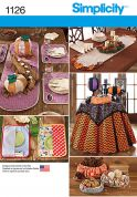 Simplicity Homeware Easy Sewing Pattern 1126 Table Accessories & Fabric Baskets