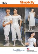 Simplicity Ladies Sewing Pattern 1139 Historical Costume Undergarments