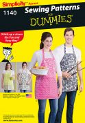 Simplicity Ladies & Mens Easy Sewing Pattern 1140 Aprons with Pockets in 4 Styles