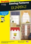 Simplicity Homeware Easy Sewing Pattern 1152 Curtains & Window Treatments