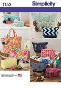 Simplicity Accessories Easy Sewing Pattern 1153 Bags, Pouches & Cases
