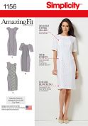 Simplicity Ladies Sewing Pattern 1156 Amazing Fit Panelled Dresses
