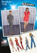 Simplicity Ladies Sewing Pattern 1158 Long & Short Jumpsuits & Belt