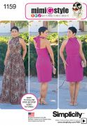 Simplicity Ladies Easy Sewing Pattern 1159 Halter Neck Dresses & Belt