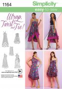 Simplicity Ladies Easy Sewing Pattern 1164 Wrap Twist & Tie Versatile Dress Skirt