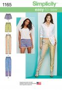 Simplicity Ladies Easy Sewing Pattern 1165 Shorts & Trouser Pants