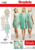 Simplicity Ladies Sewing Pattern 1168 Simple Dress & Jacket Suits
