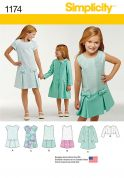 Simplicity Girls Sewing Pattern 1174 Co ordinating Dresses & Jackets