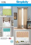 Simplicity Homeware Sewing Pattern 1176 Curtains, Blinds & Window Treatments