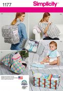 Simplicity Mother & Baby Sewing Pattern 1177 Bags, Organisers and Accessories