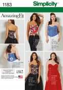 Simplicity Ladies Sewing Pattern 1183 Boned Corsets & Basques