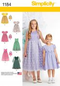 Simplicity Girls Sewing Pattern 1184 Pretty Dresses & Matching Handbags