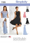 Simplicity Ladies Sewing Pattern 1195 Simple Evening Dresses
