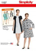 Simplicity Ladies Sewing Pattern 1197 1960's Vintage Style Dress & Coat
