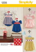 Simplicity Baby & Toddler Sewing Pattern 1205 Dresses with Smocking