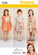 Simplicity Childrens Sewing Pattern 1208 Novelty Dresses & Matching Bags