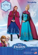 Simplicity Ladies Sewing Pattern 1210 Disney Frozen Elsa Ice Princess Costumes