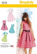 Simplicity Childrens Sewing Pattern 1213 Pretty Dresses with Bolero