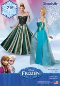 Simplicity Ladies Sewing Pattern 1215 Disney Frozen Elsa Ice Princess Costumes
