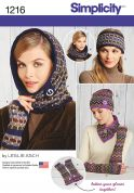 Simplicity Ladies Easy Sewing Pattern 1216 Winter Warmer Accessories