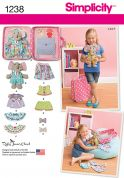 Simplicity Easy Sewing Pattern 1238 Toys, Clothes & Accessories