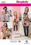 Simplicity Ladies, Girls & Dolls Easy Sewing Pattern 1241 Matching Aprons