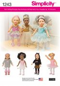Simplicity Easy Sewing Pattern 1243 Doll Clothes Dancewear