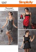 Simplicity Ladies Sewing Pattern 1247 Flapper Dresses & Bags