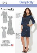 Simplicity Ladies Sewing Pattern 1249 Amazing Fit Dresses in 3 Styles