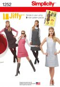 Simplicity Ladies Easy Sewing Pattern 1250 Vintage Style 2-Piece Dresses