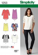 Simplicity Ladies Sewing Pattern 1253 Tops, Tunics & Blouses