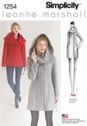 Simplicity Ladies Sewing Pattern 1254 Coats with Fashion Hood
