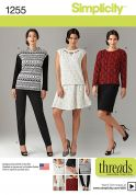 Simplicity Ladies Sewing Pattern 1255 Tops, Skirts & Trouser Pants
