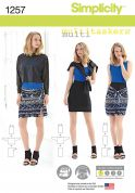 Simplicity Ladies Easy Sewing Pattern 1257 Tops & Skirts