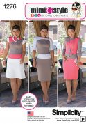 Simplicity Ladies Easy Sewing Pattern 1276 Colour Block Dresses