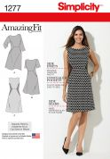 Simplicity Ladies Sewing Pattern 1277 Amazing Fit Side Inset Dresses