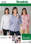 Simplicity Ladies Sewing Pattern 1279 Smart Shirts & Blouses