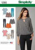 Simplicity Ladies Sewing Pattern 1280 Smart Tops & Trousers