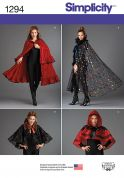 Simplicity Ladies Sewing Pattern 1294 Fancy Capes in 4 Styles