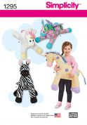 Simplicity Easy Sewing Pattern 1295 Large Animal Shaped Stuffed Toys