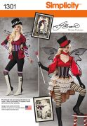 Simplicity Ladies Sewing Pattern 1301 Fancy Dress Costumes