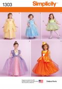 Simplicity Childrens Sewing Pattern 1303 Princess Style Dresses