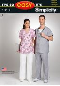 Simplicity Ladies & Mens Easy Sewing Pattern 1310 Uniforms