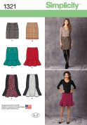 Simplicity Ladies Sewing Pattern 1321 Fitted Skirts in 4 Styles