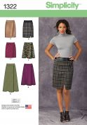 Simplicity Ladies Sewing Pattern 1322 Smart Skirts in 6 Styles
