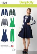 Simplicity Ladies Sewing Pattern 1325, Jacket, Tops, Dresses & Pants